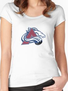 Colorado Broncos - Denver Avalanche Women's Fitted Scoop T-Shirt