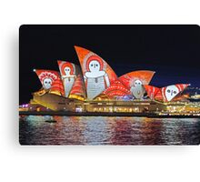 Opera House 7 Vivid 2016 Canvas Print