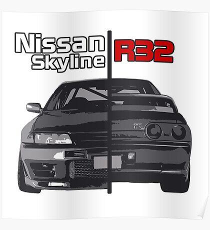 Nissan Skyline R32 JDM Poster