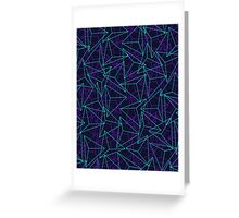Abstract Geometric 3D Triangle Pattern in  turquoise/ purple  Greeting Card