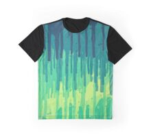 Green Grunge Color Splatter Graffiti Backstreet Wall Background  Graphic T-Shirt