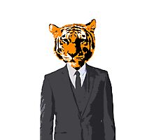 Khajiit Businessman Photographic Print