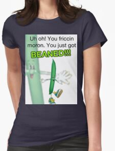 Beaned Womens Fitted T-Shirt