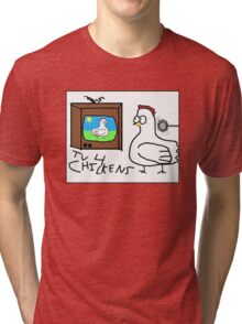 TV 4 Chickens T-Shirt Tri-blend T-Shirt