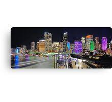 City Skyline 3 Vivid 2016 Canvas Print