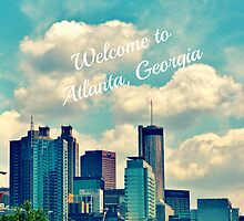 Welcome To Atlanta, Ga throw pillow by Scott Mitchell