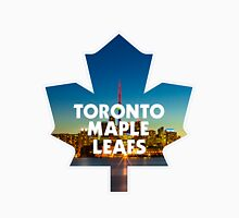 Toronto Maple Leafs Logo with Skyline Unisex T-Shirt