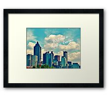 Welcome To Atlanta, Ga throw pillow Framed Print
