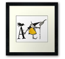 A is for Awful Witch Framed Print