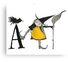 A is for Awful Witch Canvas Print