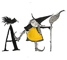 A is for Awful Witch Photographic Print