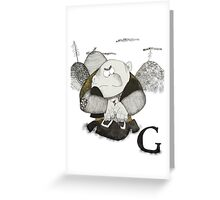 G is for Giant Greeting Card