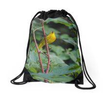 Singing Warbler Drawstring Bag