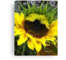 Sunflower - Watercolour Style Canvas Print