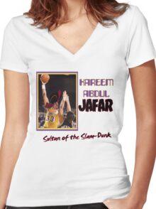 Kareem Abdul Jafar Women's Fitted V-Neck T-Shirt