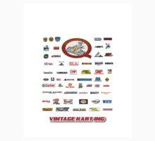 QVHK Vintage Karting Brands Kids Tee