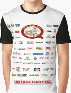 QVHK Vintage Karting Brands Graphic T-Shirt