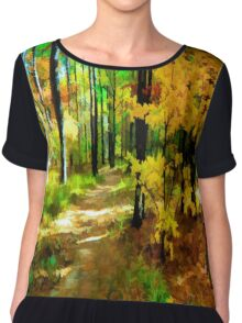 Deep In The Woods of Light & Color Chiffon Top