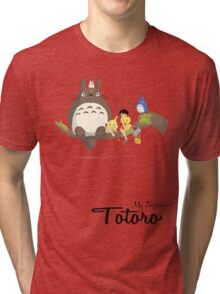 My Neighbor Totoro (With Text) Tri-blend T-Shirt