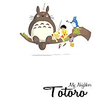 My Neighbor Totoro (With Text) Photographic Print