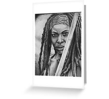 Michonne Greeting Card