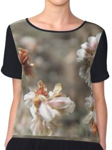 Funny Little Mystery Flowers  Chiffon Top