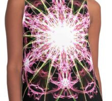 pink blast on Black Contrast Tank
