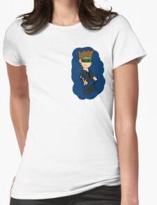 Eddsworld- Blue Leader Womens Fitted T-Shirt