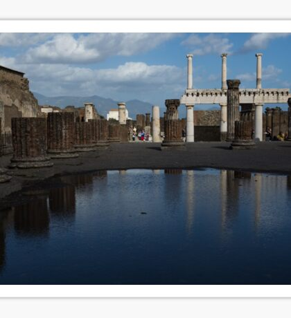 Reflecting on Pompeii Sticker