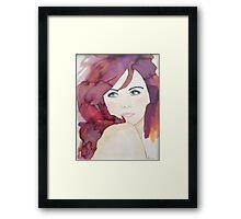 Violet 2 Designer Cushion Framed Print
