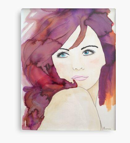 Violet 2 Designer Cushion Canvas Print