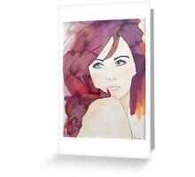 Violet 2 Designer Cushion Greeting Card