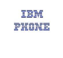 IBM Phone White by Jonathan Lynch