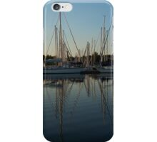 Reflecting on Yachts - Hot Summer Afternoon Mirror iPhone Case/Skin