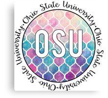 Ohio State University Multi Colored Canvas Print