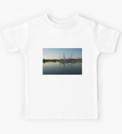 Reflecting on Yachts - Hot Summer Afternoon Mirror Kids Tee