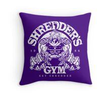 Shredder's Gym Throw Pillow