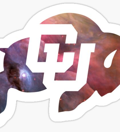 CU Boulder Galaxy Buffalo Logo Sticker