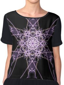 purple star on Black Chiffon Top