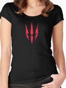 Witcher 3 Logo Women's Fitted Scoop T-Shirt