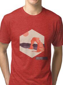 Arches National Park Travel Art Tri-blend T-Shirt