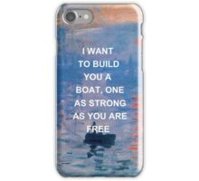 IWTWYAS Lyrics x Claude Monet iPhone Case/Skin
