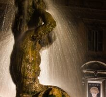 Rome's Fabulous Fountains - Bernini's Triton Fountain Sticker