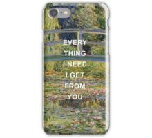 IWTWYAS x Claude Monet 2 iPhone Case/Skin