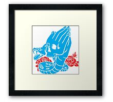 Praying Hands old school style Framed Print