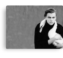 leo and the swan Canvas Print