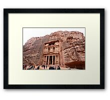 Jordan - Petra - Treasury or Al Khazneh Framed Print