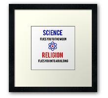 Science Vs. Religion Framed Print
