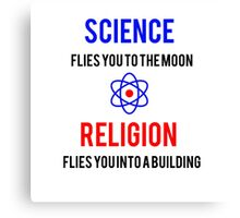 Science Vs. Religion Canvas Print