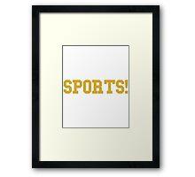 Sports - version 3 - gold Framed Print